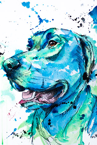 Blue Color Paintings
