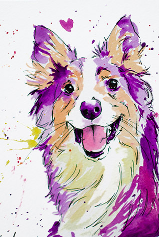 Purple Color Paintings